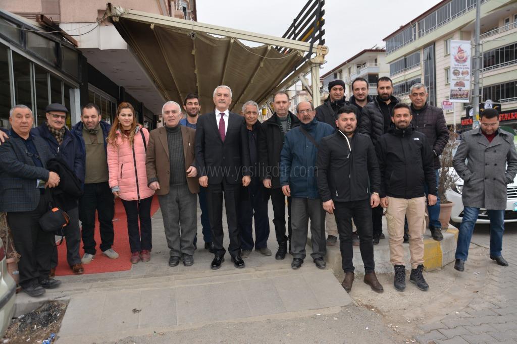 MHP ADAYI TEZEL, GAZETECİLERLE BULUŞTU