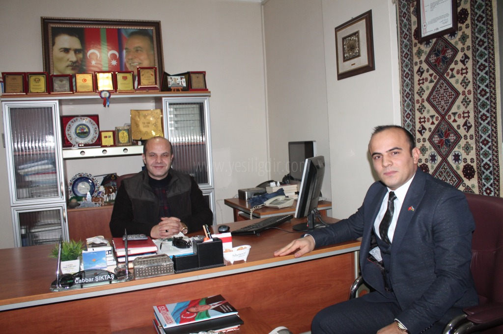 Azerbaycan Kars Başkonsolosluğu Iğdır Temsilcisi nezaket ziyaretinde bulundu