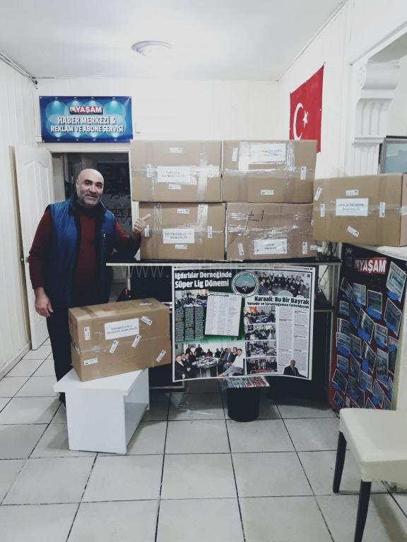 Iğdır'a 7 bin maske gönderdiler