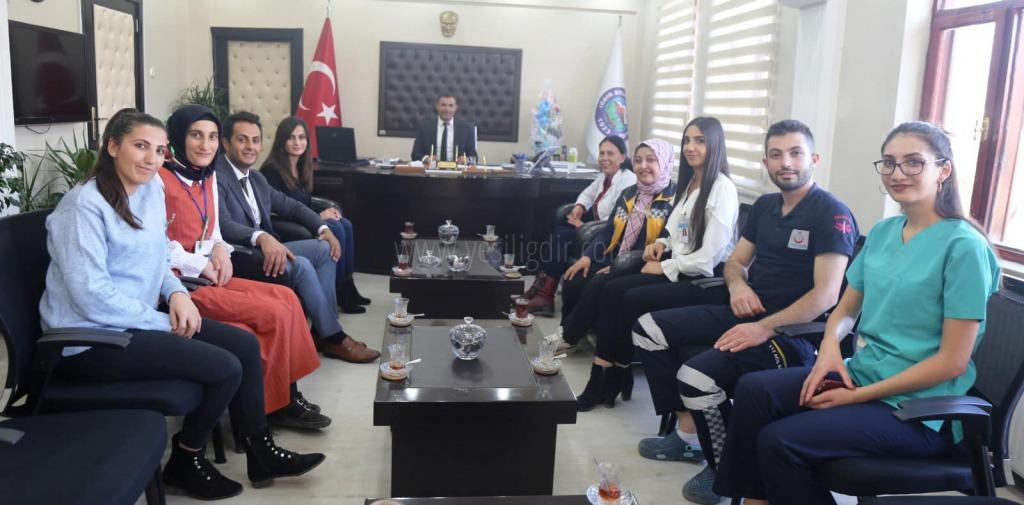 Doğubayazıt Özel Mediza Hastanesinden Başkan Yaşar Akkuşa Ziyaret