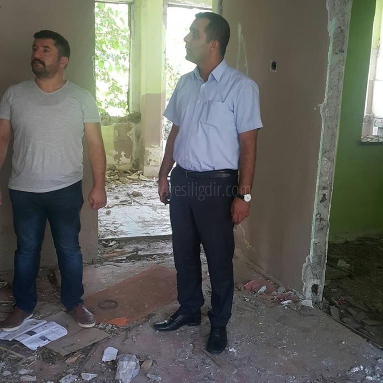 Muhtar Çağrı Keskin, Metruk Binaların Yıkılmasını İstiyor