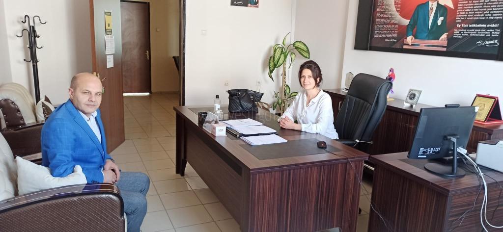 Halk Eğitim Müdürü V. Derya Taşkınsu Pamuk'a Nezaket Ziyareti