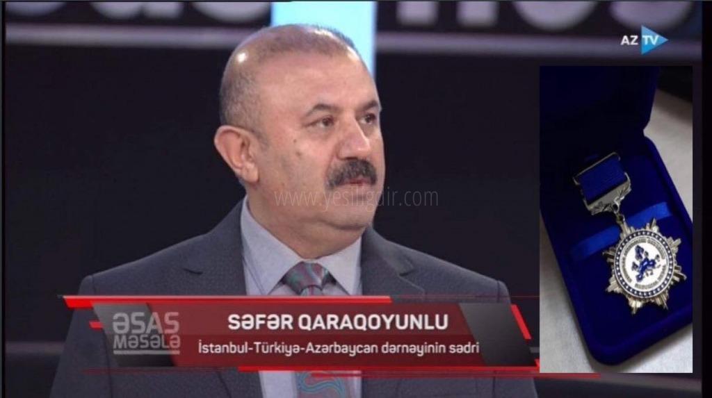 AAK - Avrupa Azerbaycanlılar Kongresinden İSTAD Başkanı Sefer Karakoyunlu'ya Madalya
