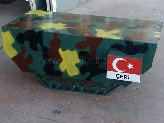 Iğdır Üniversitesi Öğr. Gör. Murat Şimşek Paletli Araç Prototipi ÇERİ'yi Üretti