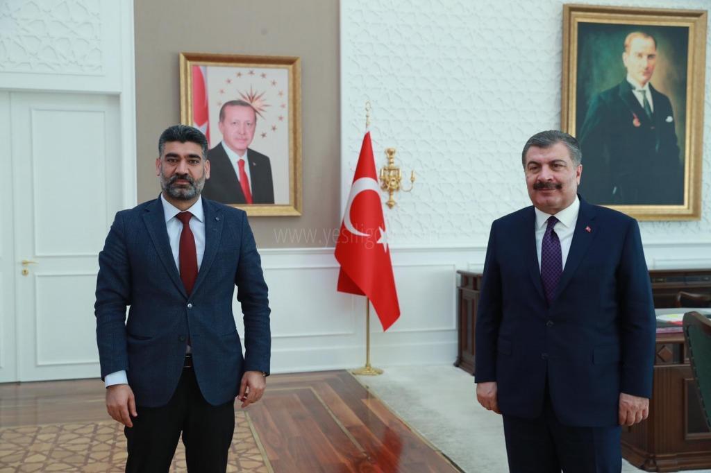 Ak Parti İl Başkanı Ayaz,  Bakan Koca'yı Ziyaret Etti