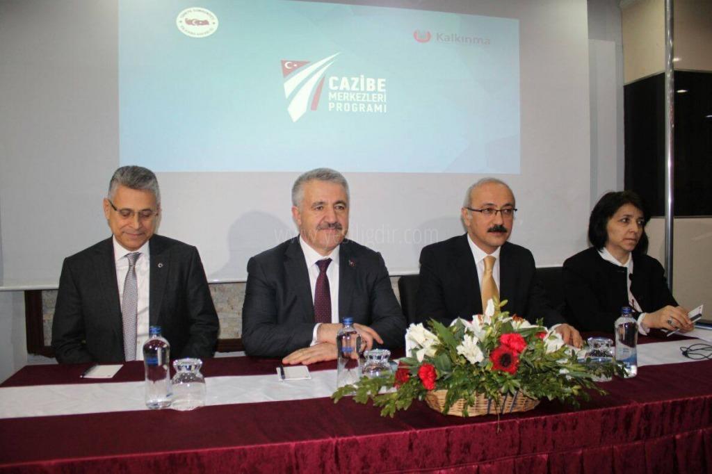 Ulaştırma ve Kalkınma Bakanı cazibe merkezi programına katıldı