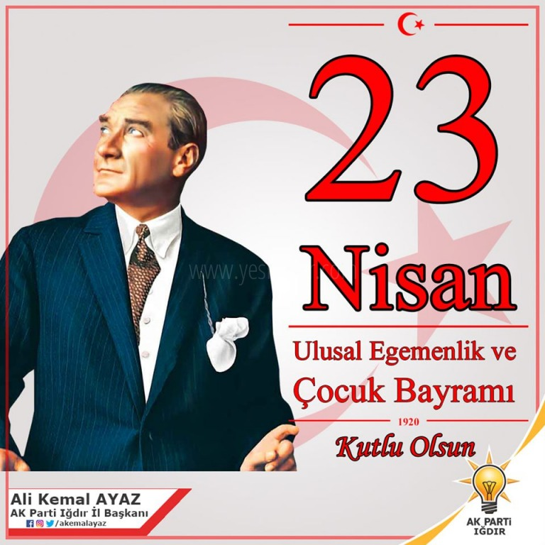 Ak Parti İl Başkanı Ali Kemal Ayaz'dan 23 Nisan Mesajı