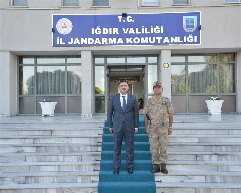 Vali/Belediye Başkan V.  H. Engin Sarıibrahim İl Jandarma Komutanlığını Ziyaret Etti