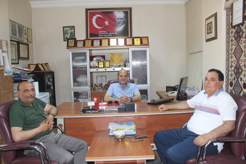 Daire Başkanı Nihat Aras'tan Nezaket Ziyareti