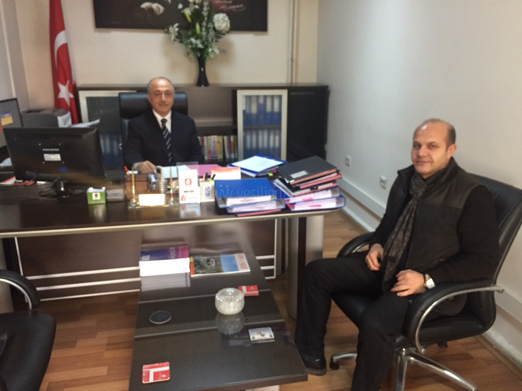 Vergi Dairesi Müdürlüğüne Atanan Yusuf Sinikkaya'ya Nezaket Ziyareti