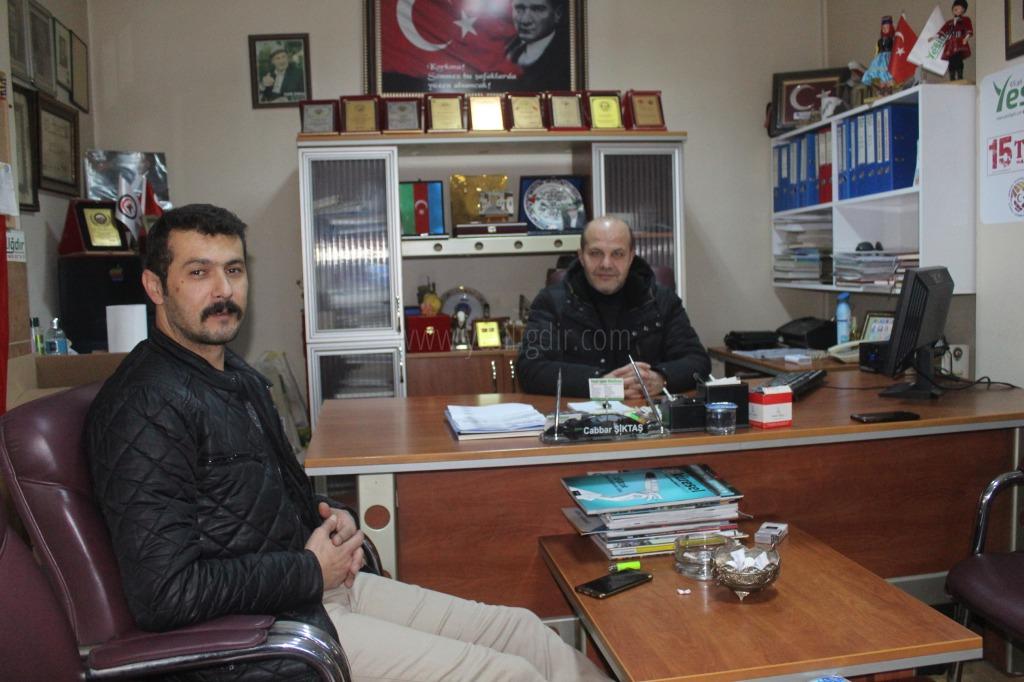 Veteriner Hekim Akuş'tan Nezaket Ziyareti