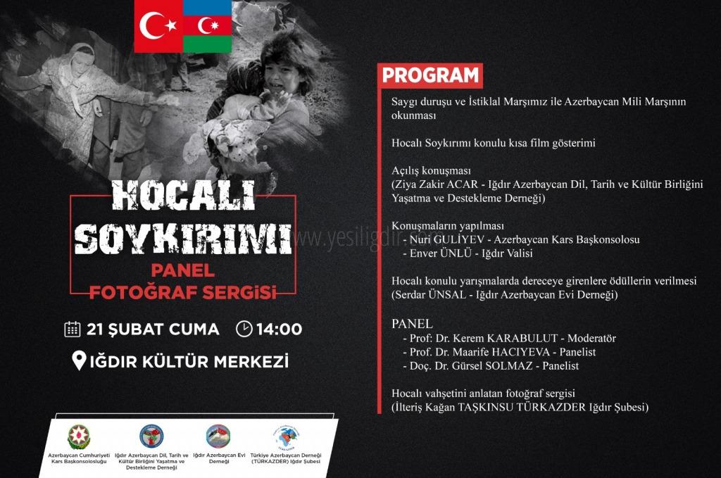 """HOCALI FACİASI 21 ŞUBAT CUMA GÜNÜ SAAT 1""""4.00 DE ANILACAK"""