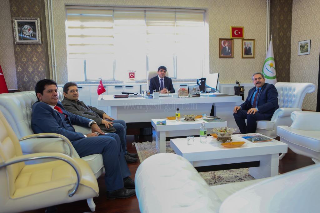 Kültür ve Turizm Bakanlığı Teftiş Kurulu Başkanı Asım Keser Rektör Alma'yı Ziyaret Etti.