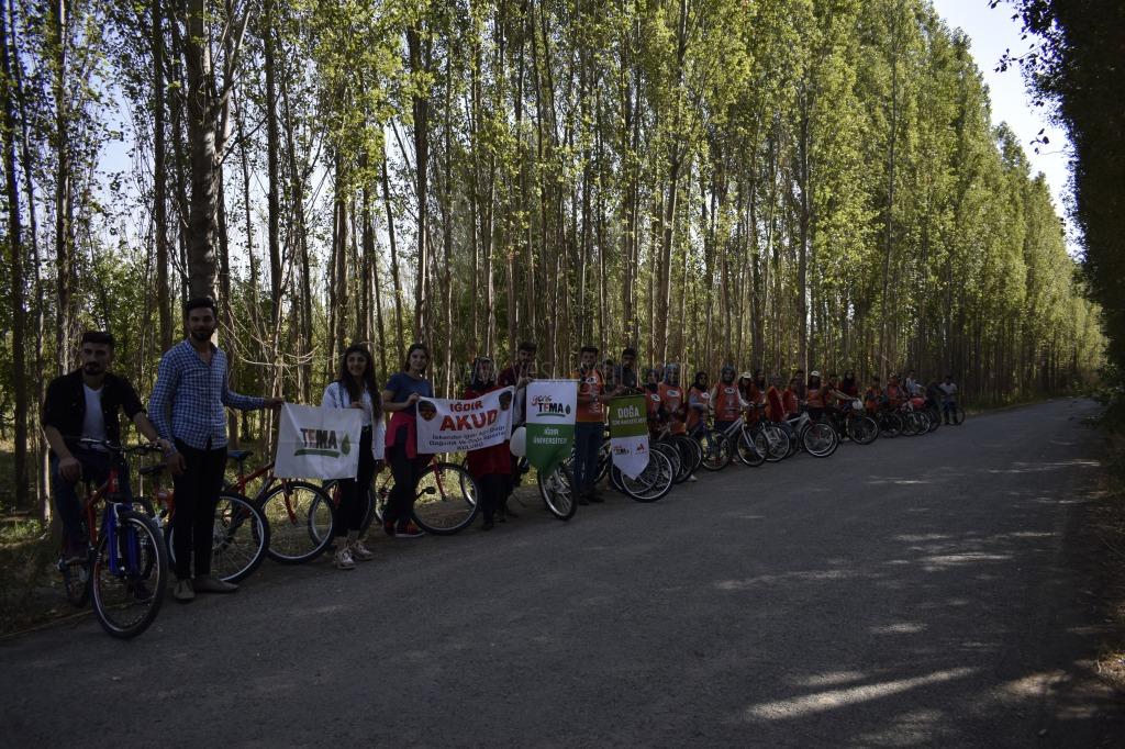 TEMA Iğdır'da Bisiklet Turu Düzenledi