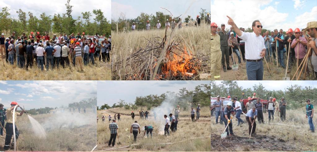 Iğdır  Orman İşletme Müdürlüğü tarafından yangın tatbikatı düzenlendi.