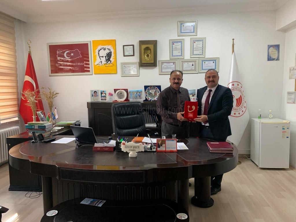 Başkan Eray Coşar'dan  Özkan Yolcu'ya Ziyaret