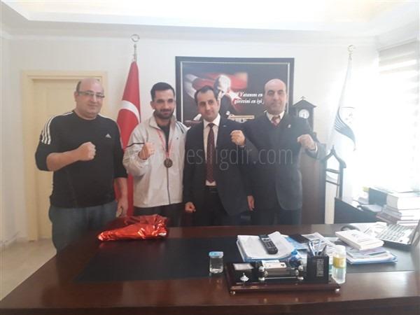 Kaymakam Kamil Güzel'e  Teşekkür Ziyareti