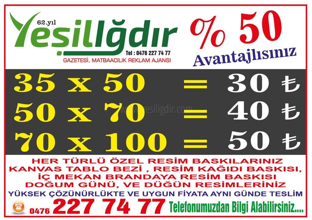 Yeşil Iğdır Gazetesi Reklam Ajansı...