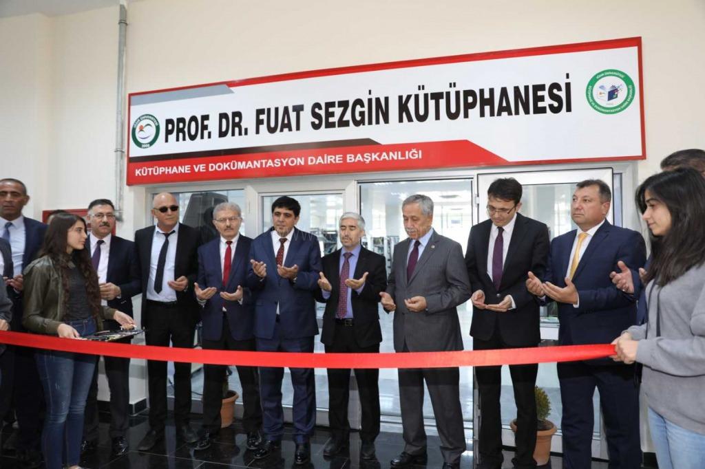 Prof. Dr. Fuat Sezgin Kütüphanesi Törenle Açıldı