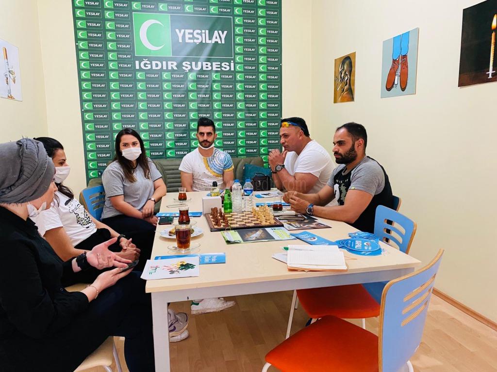 """""""Yeşilay Iğdır Şubesi Iğdır'daki spor salonlarıyla işbirliği yaptı."""""""