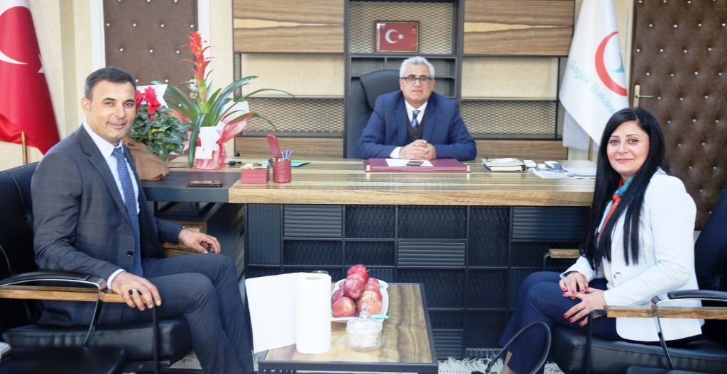Iğdır Belediye  Başkanlarından Sağlık müdürü Nevruz Erez'e hayırlı olsun ziyareti