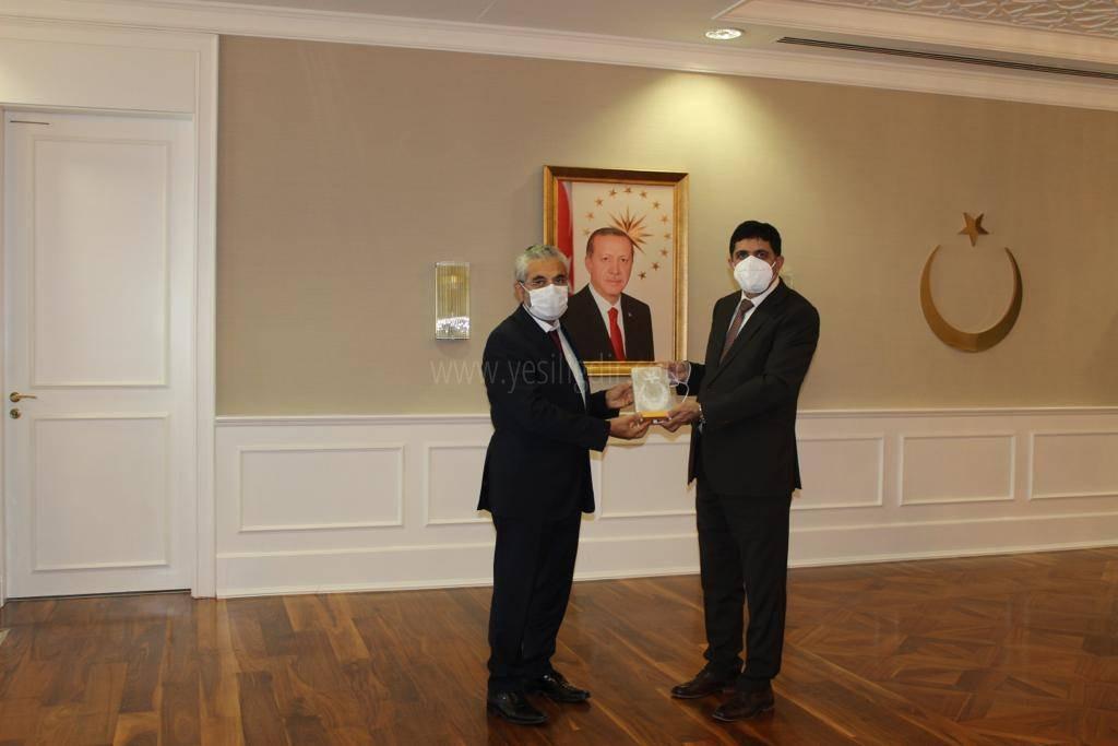 Rektör Alma'dan, Sağlık Bakanlığı Bakan Yardımcısı Prof. Dr.  Sabahattin Aydın'a Ziyaret