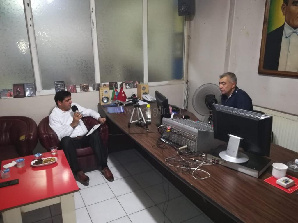 Rektör Prof. Dr. Mehmet Hakkı Alma, Iğdır FM Radyosunun Konuğu Oldu