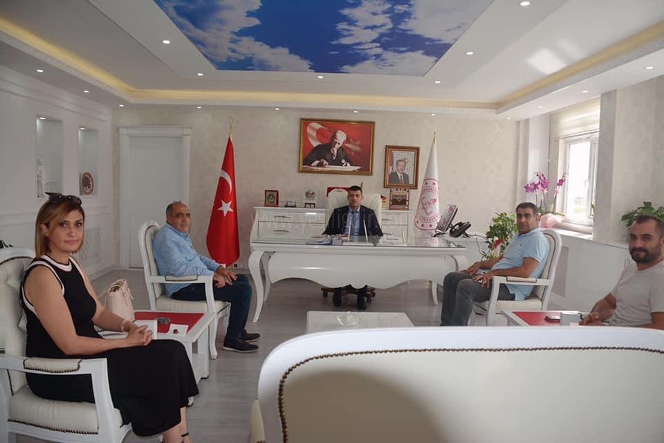 Kamil Arslan'dan Servet  Canlı'ya Hayırlı Olsun Ziyareti