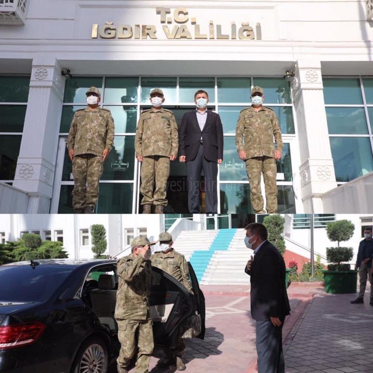 Korgeneral Öngay'dan Iğdır Vali Sarıibrahim'e Ziyaret