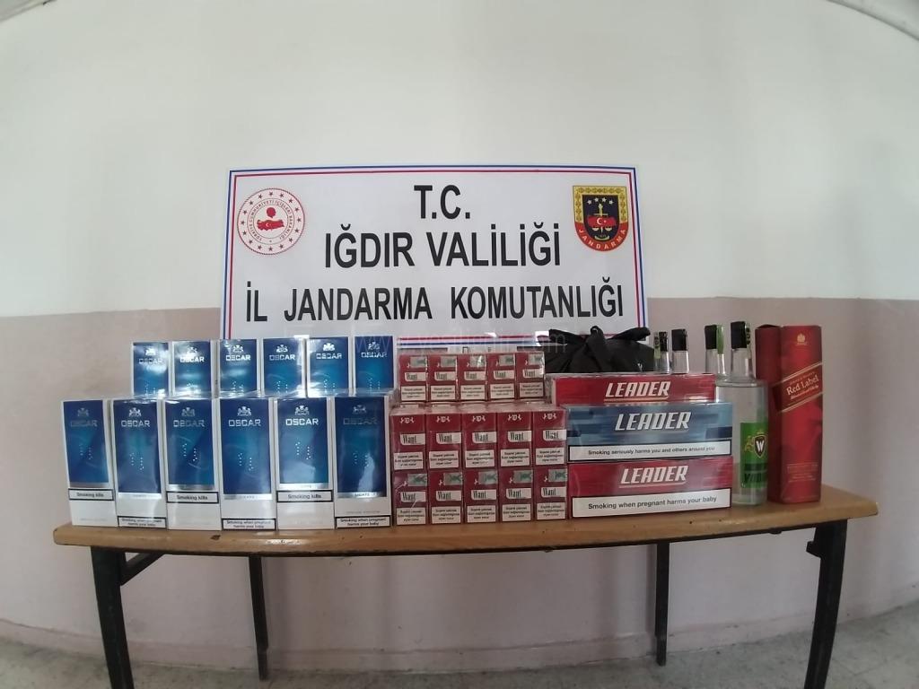 Bin 299 paket kaçak sigara ile 2 bin 536 litre kaçak akaryakıt ele geçirildi.