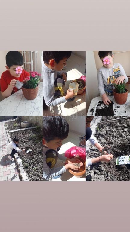 Kurtuluş İlkokulu'nda Küresel Isınmaya dikkat çeken 'Gezegenin Kahramanı Sen Ol' e -Twinning Projesi