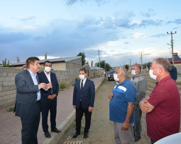 Vali/Belediye Başkan V. H. Engin  Sarıibrahim, Yol Çalışmalarını İnceledi