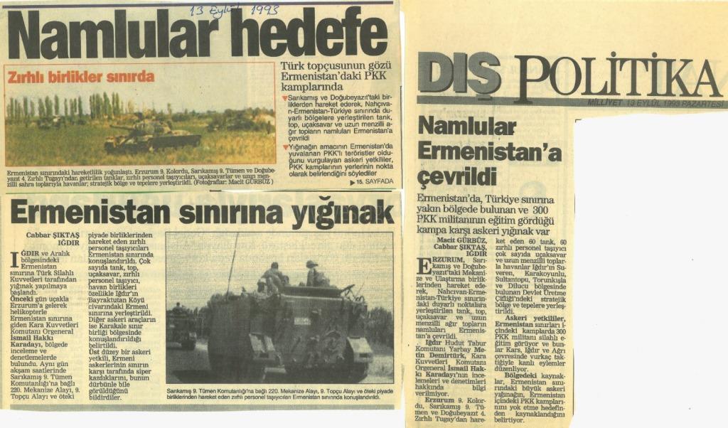 Namlular Ermenistan'a Çevrildi