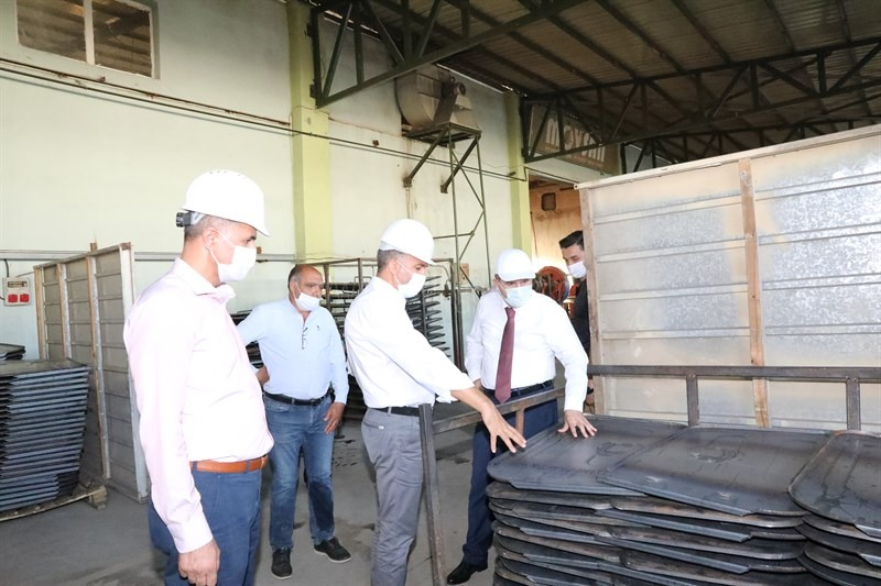 Vali/Belediye Başkan V. H.  Engin Sarıibrahim'den OSB Ziyareti
