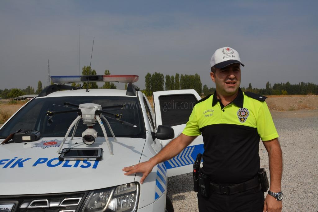 Iğdır'da Drone Destekli Trafik Uygulaması Yapıldı