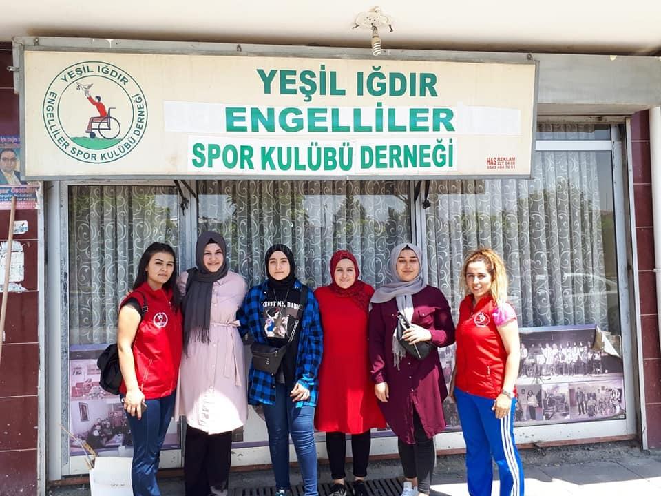 Yeşil Iğdır Engelliler Spor Kulübüne Anlamlı Ziyaret