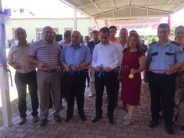 Karakoyunlu Halk Eğitim Müdürlüğü yılsonu sergisi açılışı yapıldı