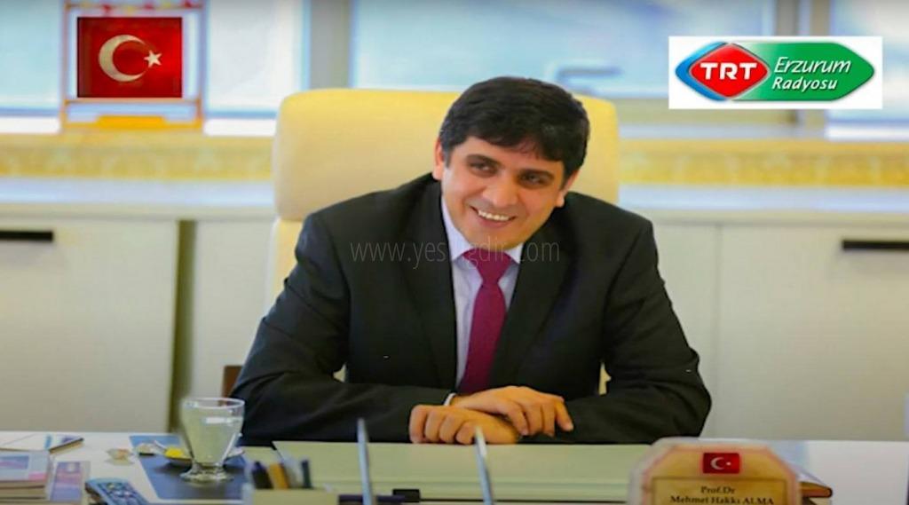 Rektör Alma TRT Erzurum  Radyosu'nun Konuğu Oldu