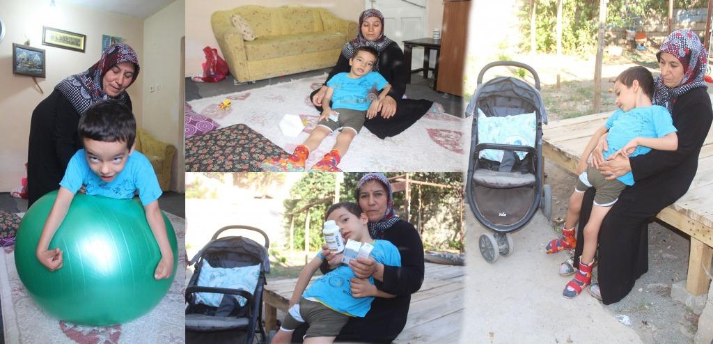 Anne Baba ayrıldı 6 Yaşındaki Engelli Alperen ortada kaldı