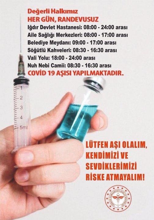 İlimizde Aşı  Noktaları Kuruldu
