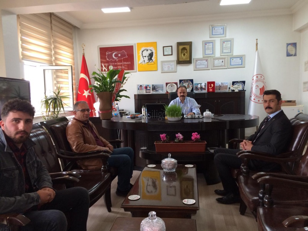 Kars Ardaha Iğdır Bölge Veteriner Hekimleri Odası Iğdır İl Temsilcisi Serdar AKUŞ'tan Özkan Yolcu'ya Ziyaret