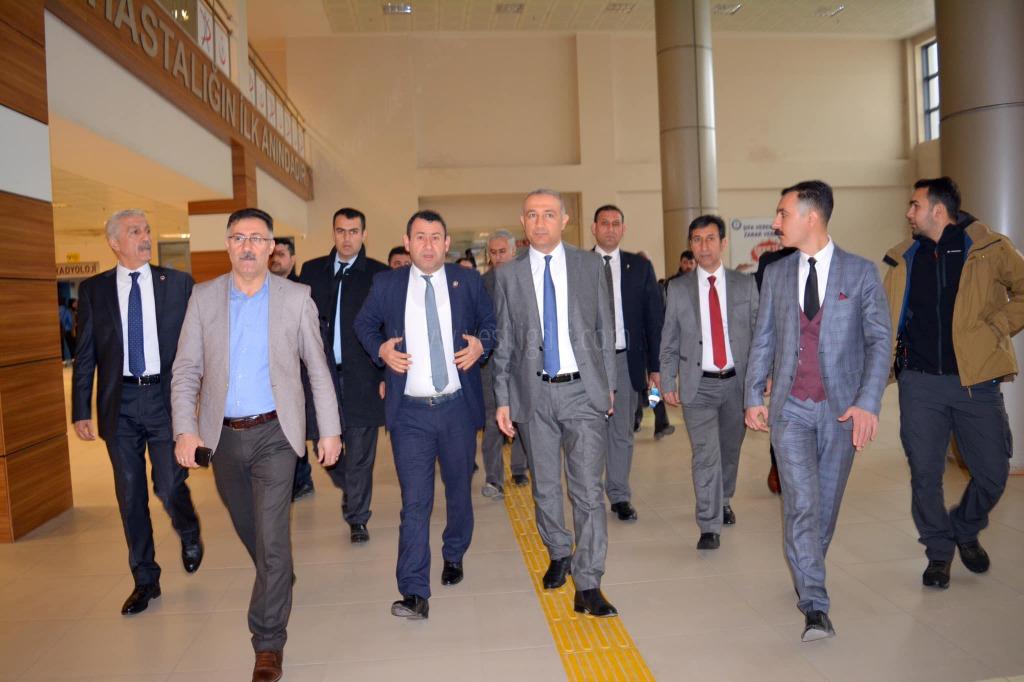 Cumhur İttifakı Belediye Başkan Adayı Hastaları Ziyaret etti