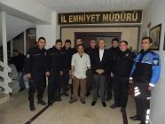 Ahmet Şerif İzgören  İl Emniyet  Müdürü Yüksel Babal'ı Ziyaret Etti