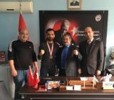 Başkan Kurban Kaya'ya Şampiyon'dan Ziyaret