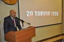 """Azerbaycan Kars Başkonsolosu Nuru GULİYEV, """"Kanlı Ocak"""" katliamının 29'cu yıldönümü dolayısıyla açıklamada bulundu."""
