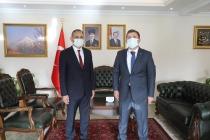 Yakup Alhan'dan  Vali  H. Engin Sarıibrahim'e veda ziyareti