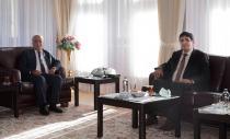 Iğdır Üniversitesi Rektörü Prof. Dr. Mehmet Hakkı Alma'dan  Rektör Ömer Çomaklı'ya Ziyaret