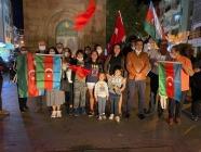 Çanakkalede bulunan lğdırlılar Azerbaycan'a destek, amacıyla bir araya geldi.