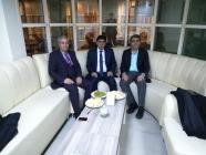 Çalışma Bakanlığı Müfettişi Orhan Kotan ve Ağrı Kültür Dernekleri Federasyonu Genel Başkanı Nuri Aydemir, Rektör Alma'yı ziyaret etti
