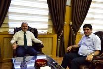 Rektör Alma Kahramanmaraş  Valisi Vahdettin Özkan'ı ziyaret etti
